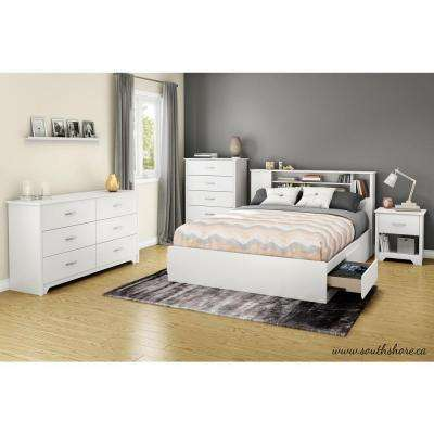 Fusion 6 Drawer Pure White Dresser
