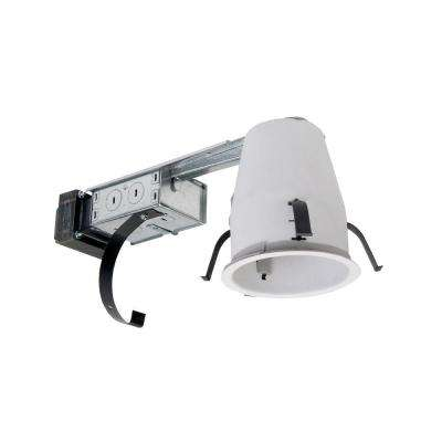 H1499 4 in. Steel Recessed Lighting Housing for Remodel Shallow Ceiling, Low-Voltage, No Insulation Contact, Air-Tite