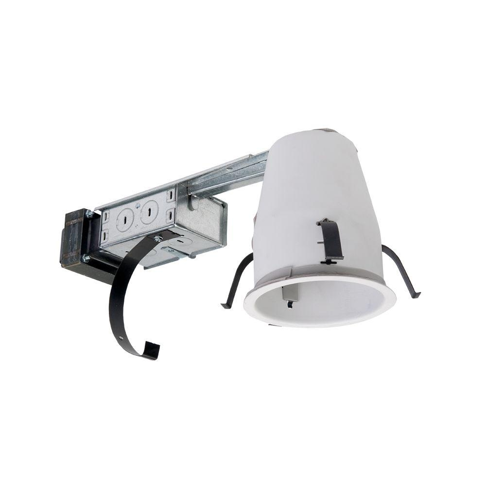 Halo H1499 4 in. Steel Recessed Lighting Housing for Remodel Shallow Ceiling Low-  sc 1 st  The Home Depot & Halo H1499 4 in. Steel Recessed Lighting Housing for Remodel Shallow ...