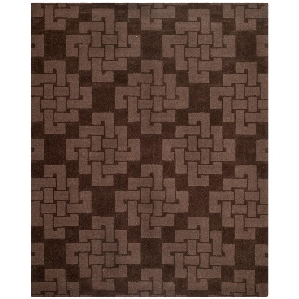 Martha Stewart Chocolate Truffle 9 ft. x 12 ft. Area Rug