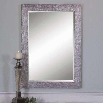 42 in. x 31 in. Silver Finished Rectangle Framed Mirror