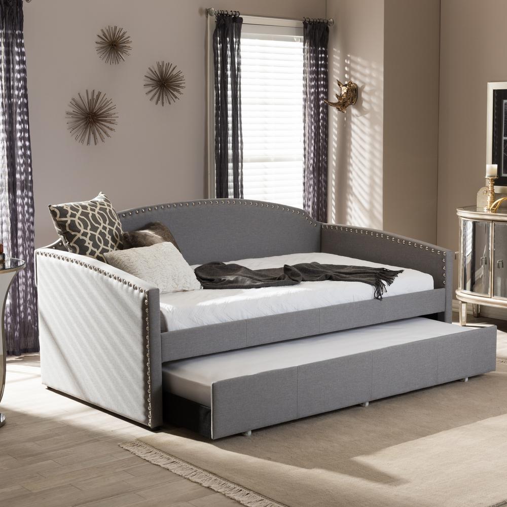Sofa King To Ol: Baxton Studio Lanny Contemporary Gray Fabric Upholstered