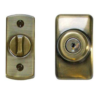 Antique Brass Keyed Deadbolt