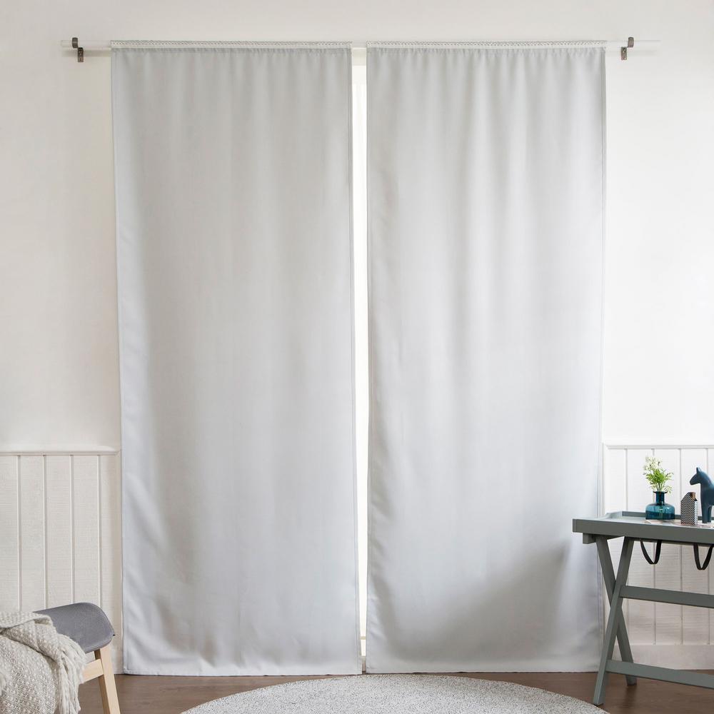 Blackout Window Curtain Liner 35 in. W x 60 in. L in Vapor