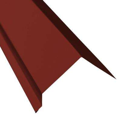 5 in. x 10.5 ft. Eave Flashing Molding in Red