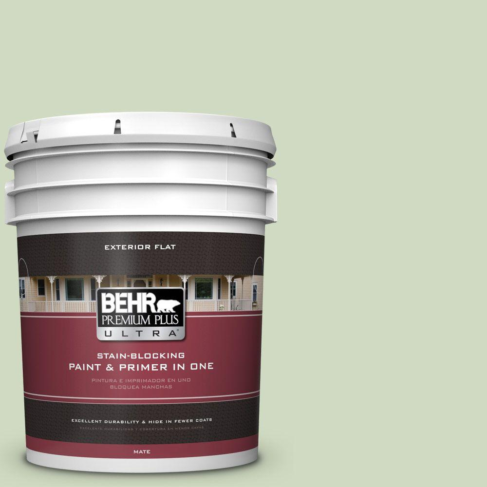 5-gal. #M380-2 Glade Green Flat Exterior Paint