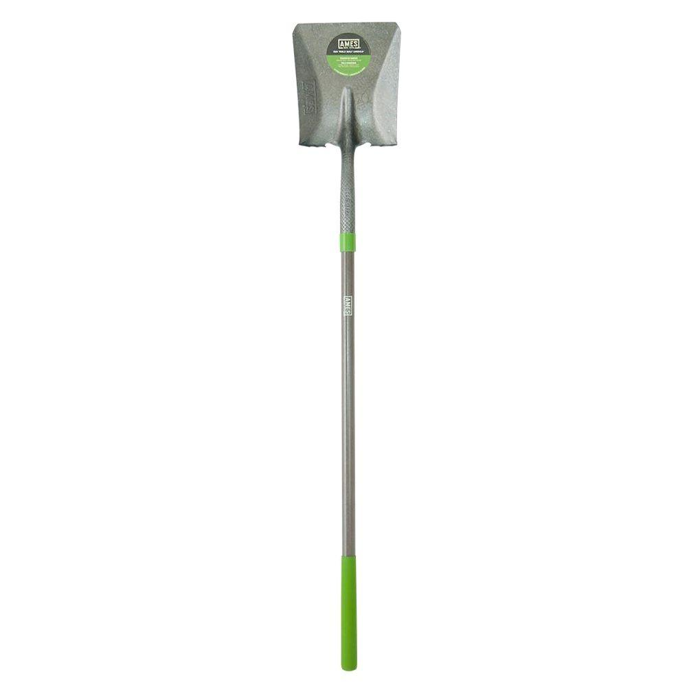 Ames 47 in. Fiberglass Handle Transfer Shovel with Comfort Step
