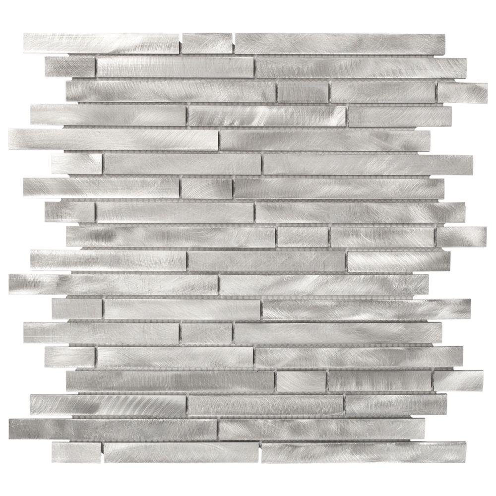 Jeffrey Court Mystical Light 12 in. x 12 in. x 8 mm Aluminum Mosaic Wall Tile