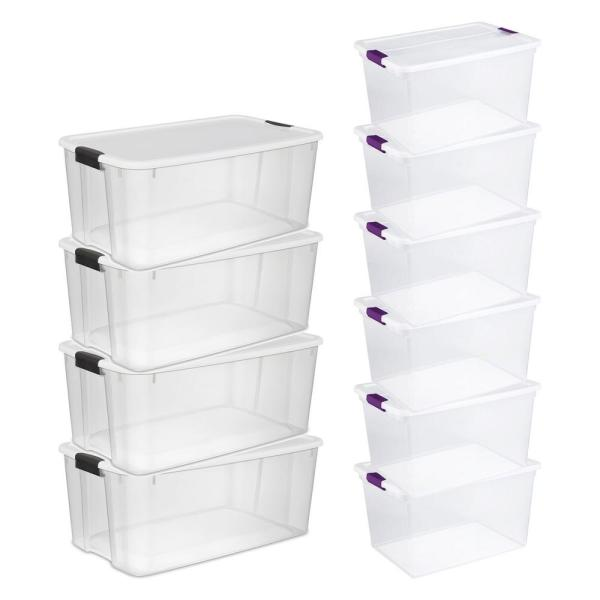 116 Qt. Ultra Storage Tote Box (4 Pack) and 66 Qt. Containers (6 Pack)
