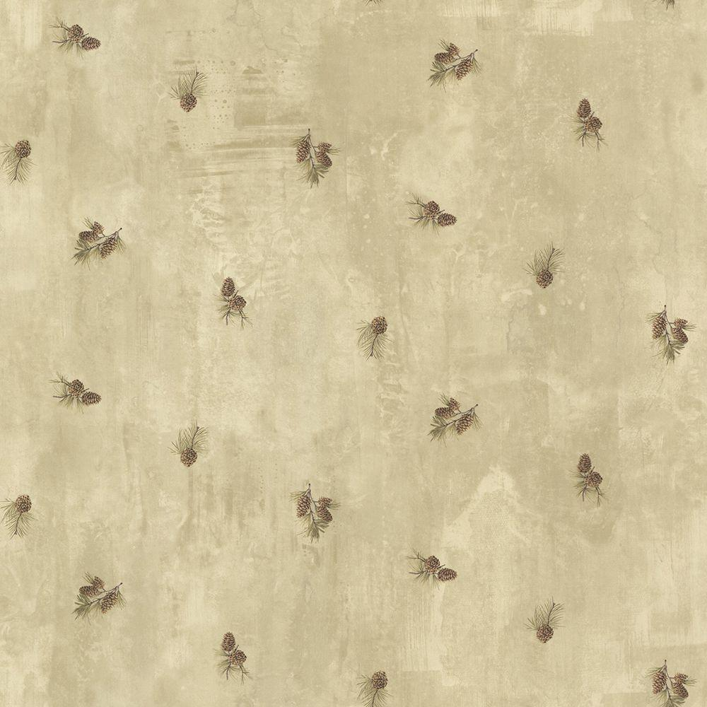 Brantley Beige Pinecone Toss Paper Strippable Roll Wallpaper (Covers 56.4 sq. ft.)