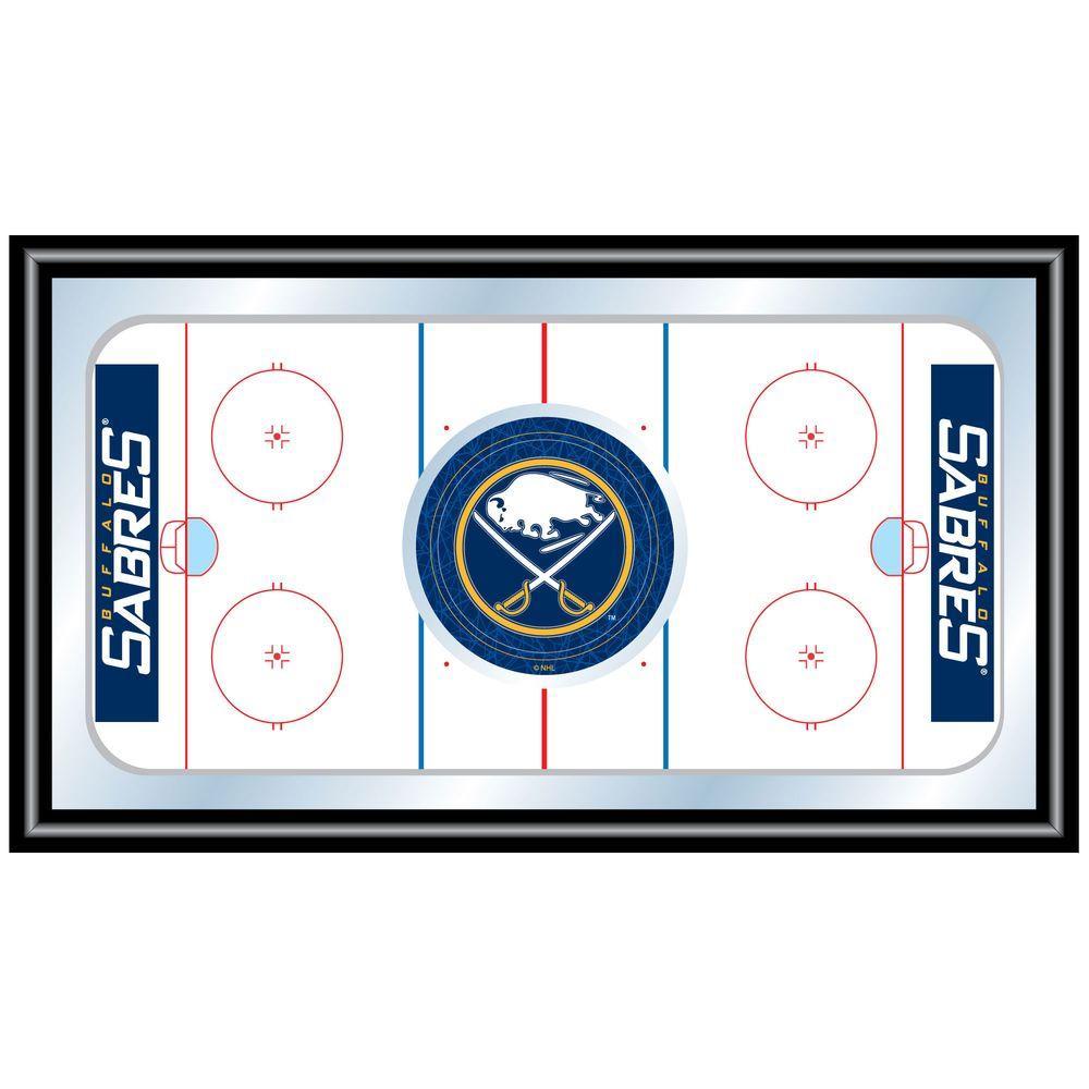 null NHL Buffalo Sabres 15 in. x 26 in. Black Wood Framed Mirror