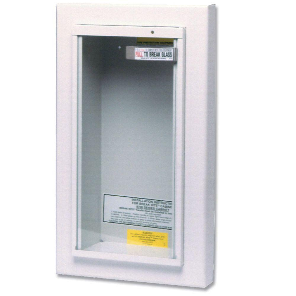 Kidde 10 lbs. Semi-Recessed Fire Extinguisher Cabinet-468045 - The ...