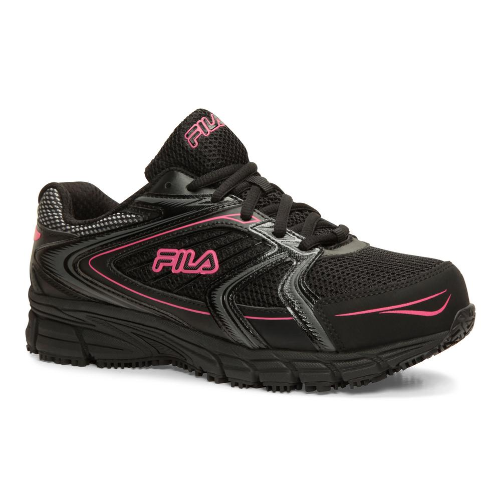 Fila Women's Memory Reckoning 8 Slip Resistant Athletic Shoes Steel Toe Black Size 7.5(M)