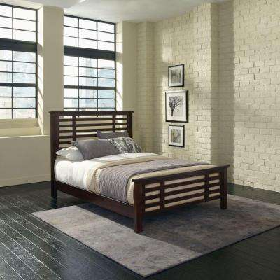 Multi-Step Chestnut King Bed Frame