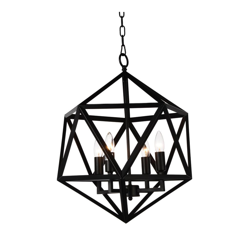 Amazon 4-Light Black Chandelier