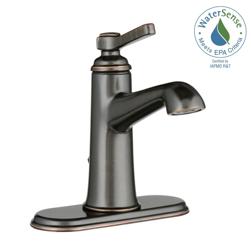Georgeson Single Hole Single-Handle Bathroom Faucet with Drain in Oil-Rubbed