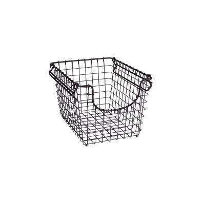 Scoop 10.25 in. W x 12.75 in. D x 8.375 in. H Small Stacking Basket in Bronze