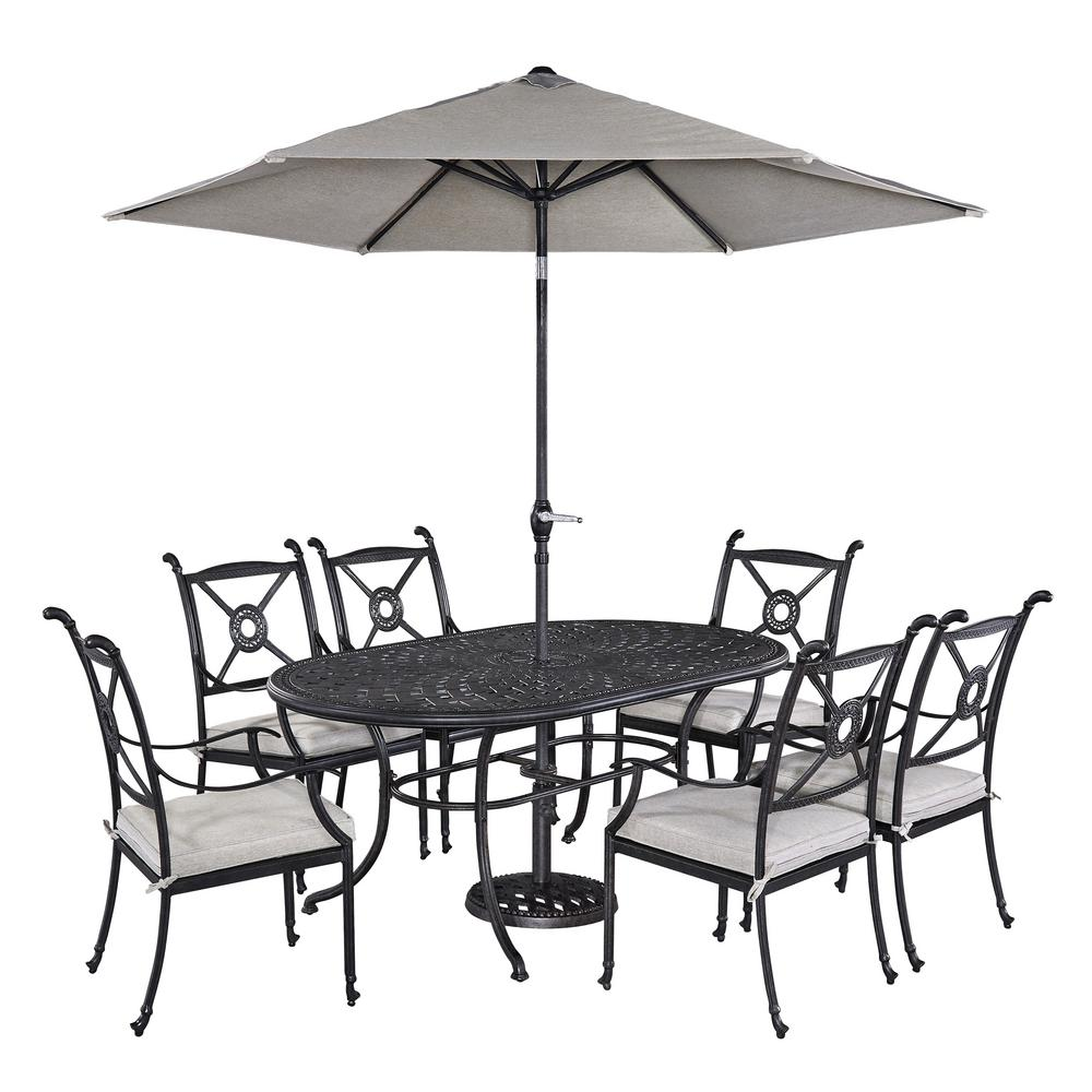 Athens 7 Piece Patio Dining Set With Umbrella