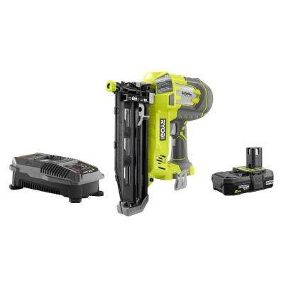 18-Volt ONE+ AirStrike 16-Gauge Cordless Straight Finish Nailer Kit with ONE+ 2.0 Ah Lithium-Ion Battery and Charger