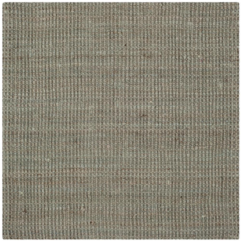 Natural Fiber Gray 9 ft. x 9 ft. Square Indoor Area Rug