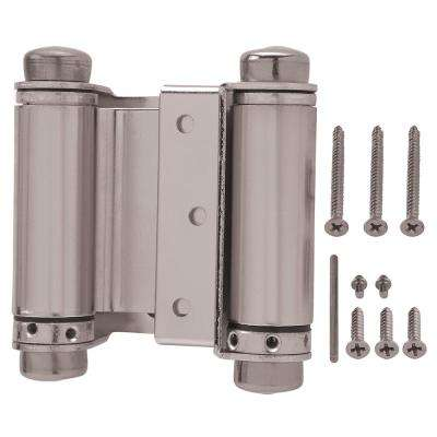 3 in. x 3 in. Satin Nickel Double-Action Spring Door Hinge