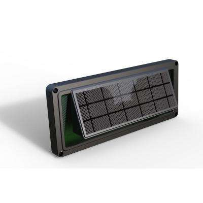 Dark Brown Solar Powered Sound Activated Integrated LED Deck Lights with Dusk to Dawn Outdoor Safety and Decoration