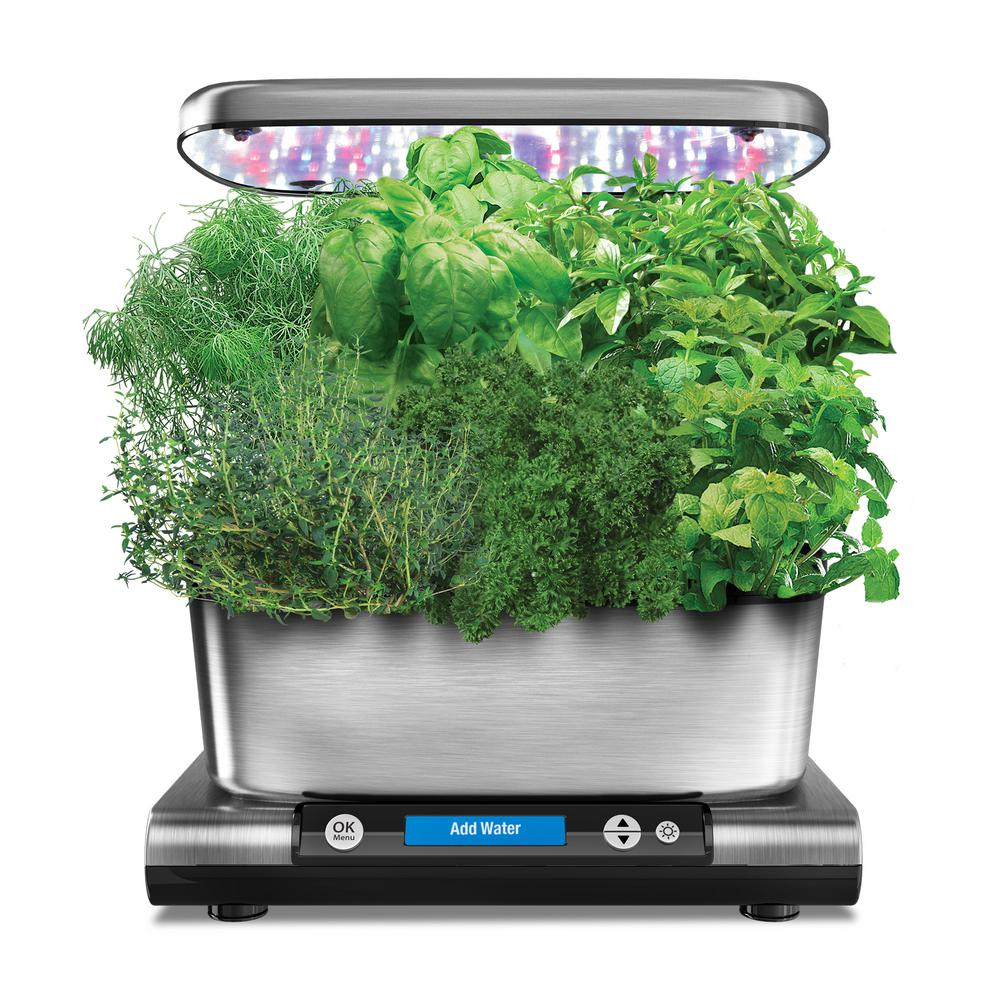 Miracle Gro Aerogarden Harvest Elite With Gourmet Herb Seed Pod Kit In Stainless Steel