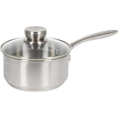 1.5 Qt. Stainless Steel Induction Compatible Sauce Pot with Lid