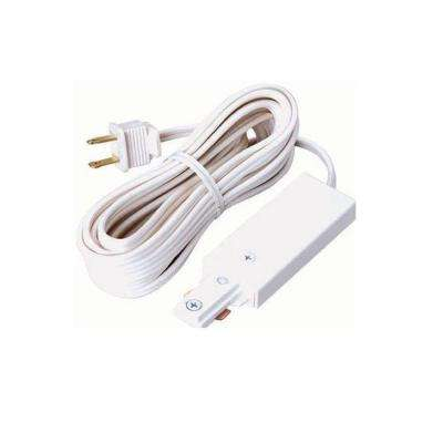 3-Wire Track Lighting Cord and Plug White Connector