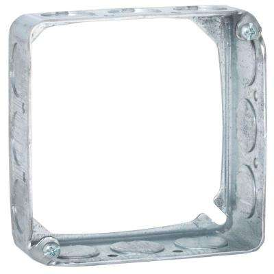4 in. Square Drawn Extension Ring, 1-1/2 in. Deep with 1/2 in. KO's (50-Pack)