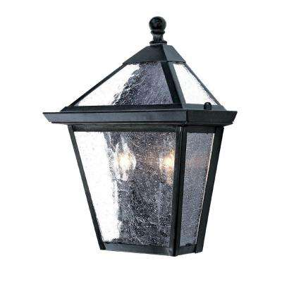 Bay Street Collection 2-Light Matte Black Outdoor Wall-Mount Light Fixture