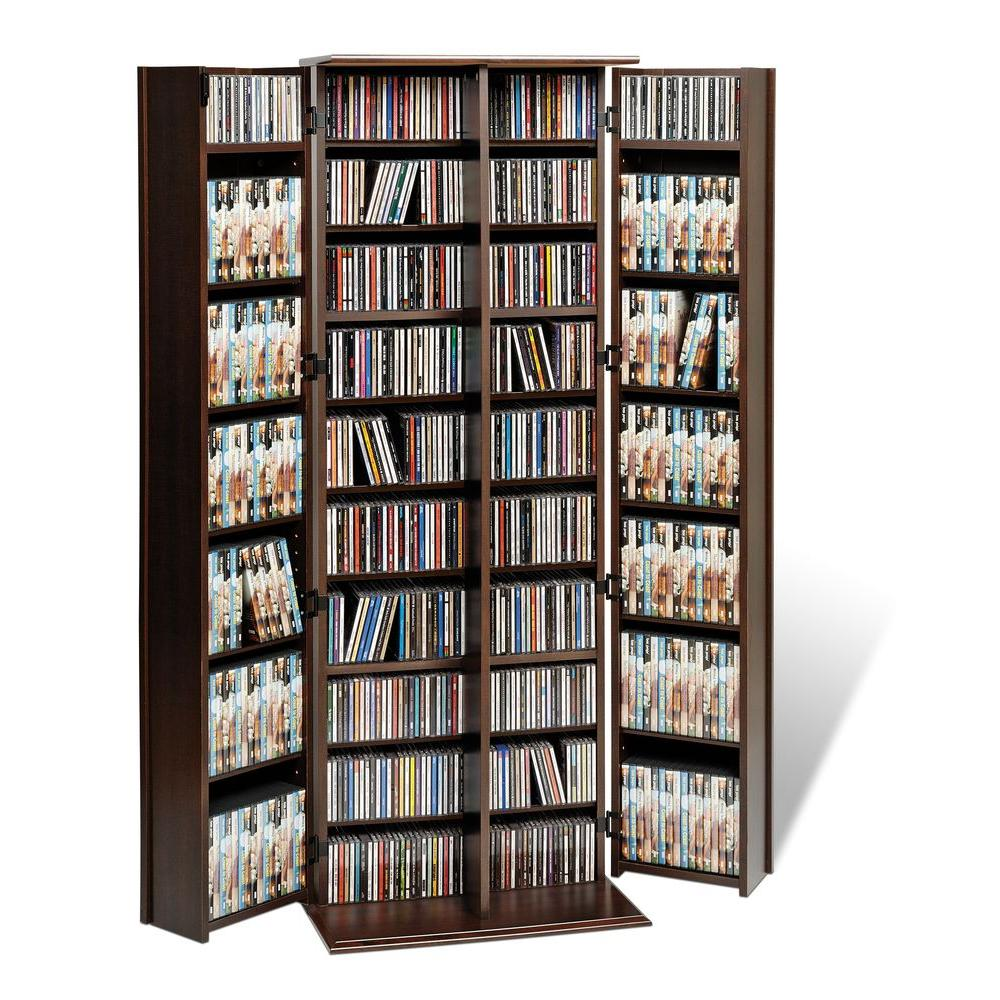 Prepac Espresso Media Storage Els 0448 K The Home Depot Rh Homedepot Com DVD  Movie Shelves DVD Collection