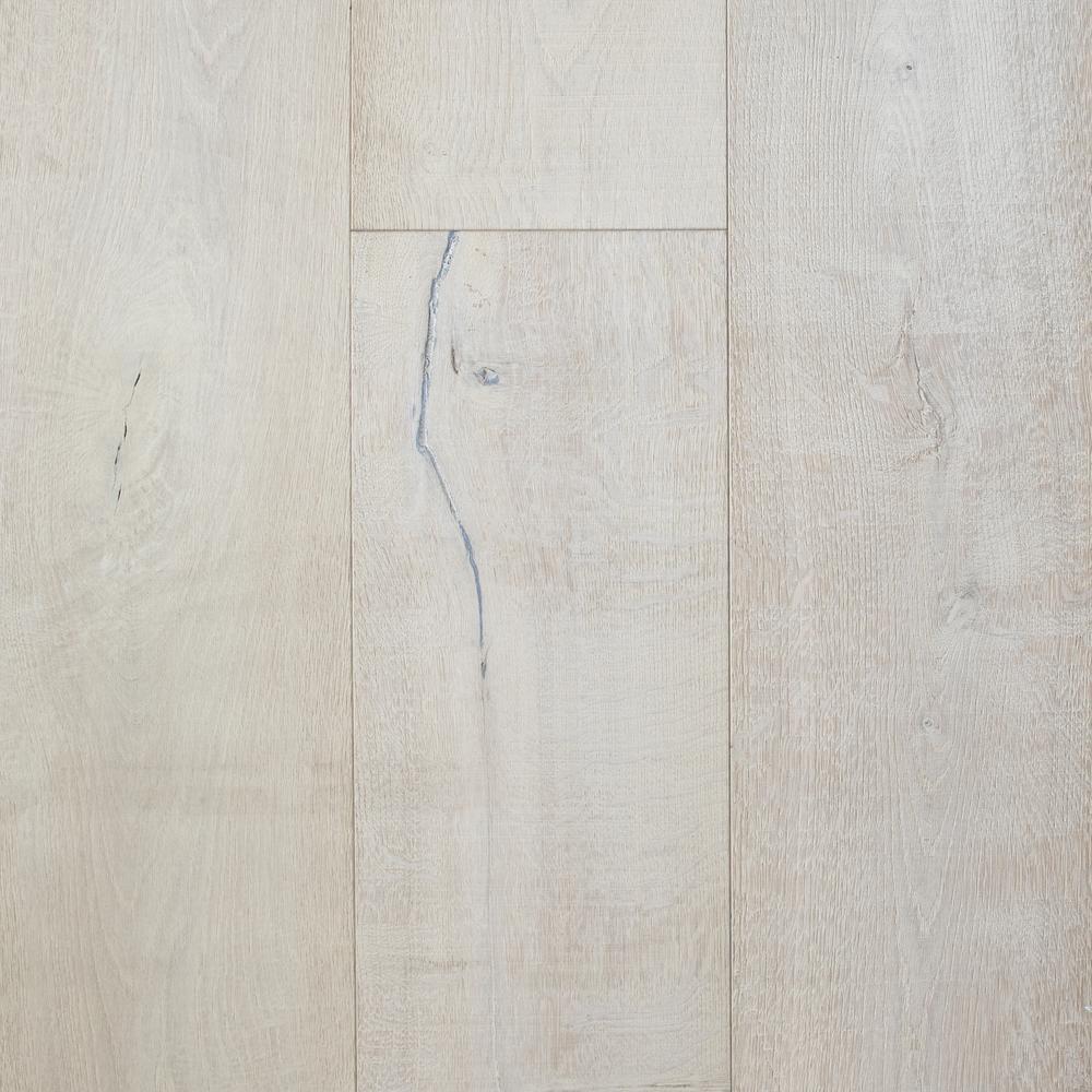 Brushed White Oak Bianco 5/8 in. T x 9.45 in. W x Random Length Engineered Hardwood Flooring (34.1 sq. ft./case)