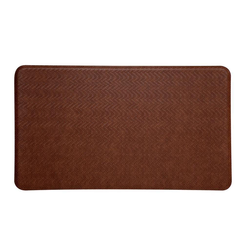 IMPRINT Comfort Mat Cobblestone Toffee Brown 20 in. x 36 in. Anti-Fatigue Comfort Mats