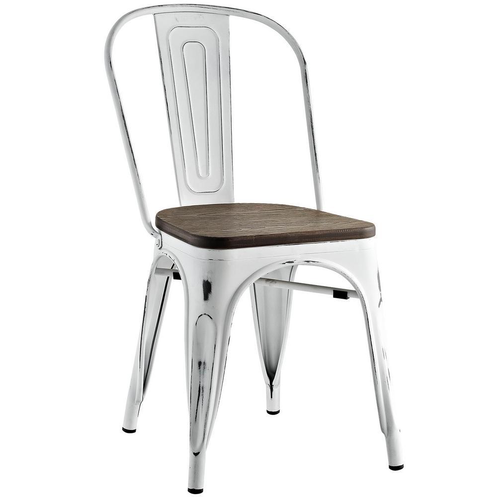 Promenade White Bamboo Side Chair