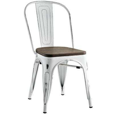 Promenade White Bamboo Side Chair