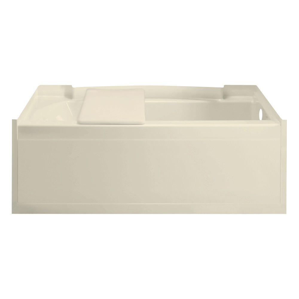 null Accord 5 ft. Right Drain Soaking Tub in Almond-DISCONTINUED
