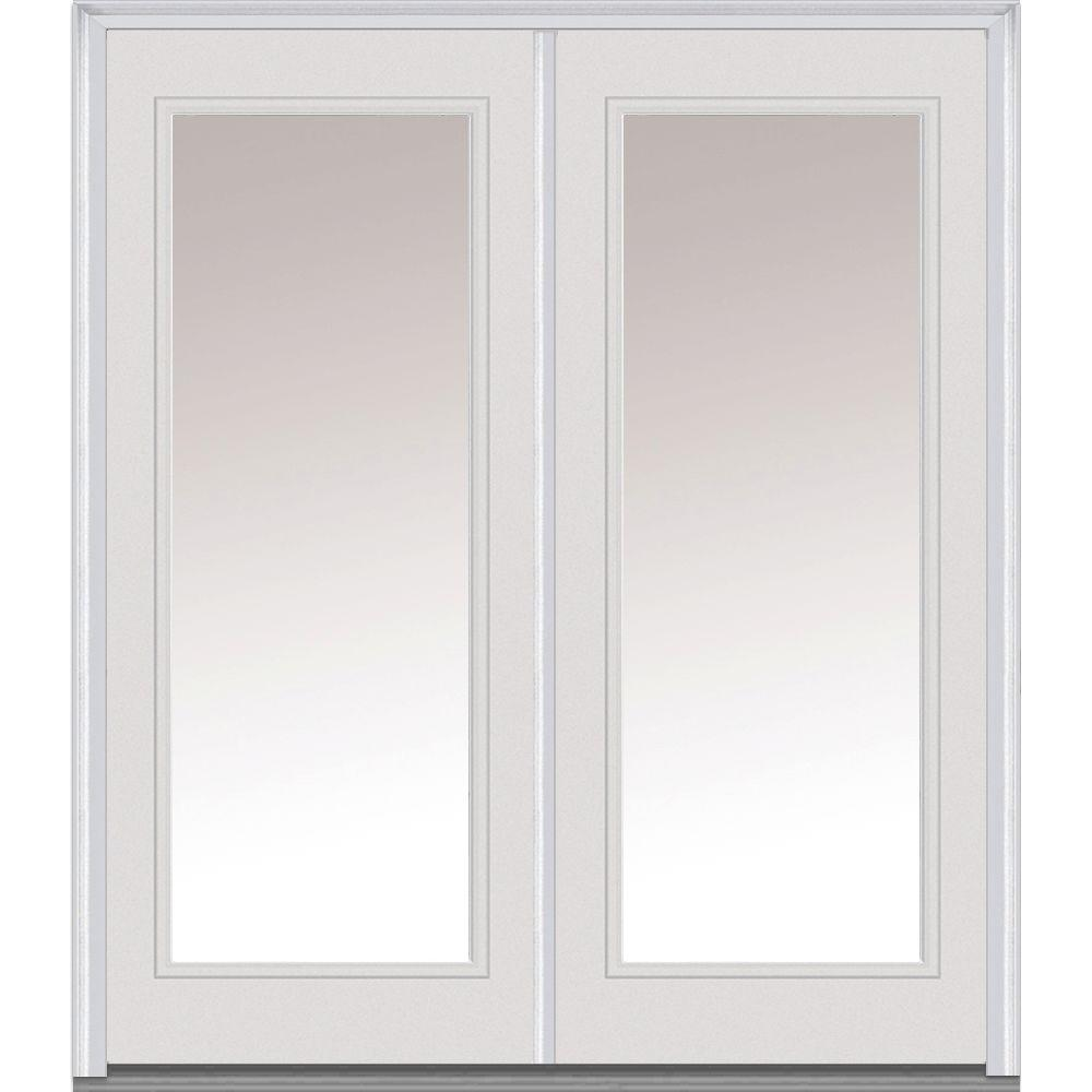 MMI Door 72 in. x 80 in. Clear Glass Right-Hand Full Lite Classic ...