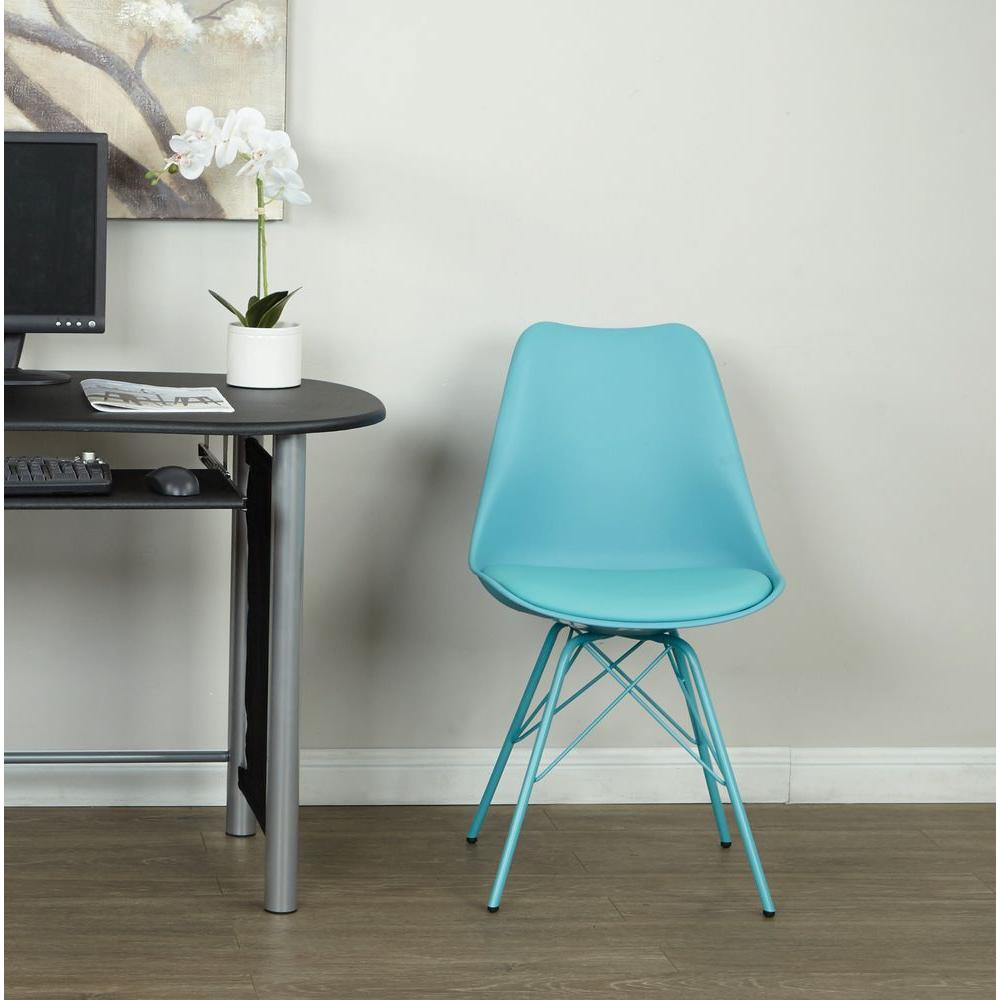 Linon Home Decor Taylor Teal Chenille Side Chair-36080TEAL01U - The ...