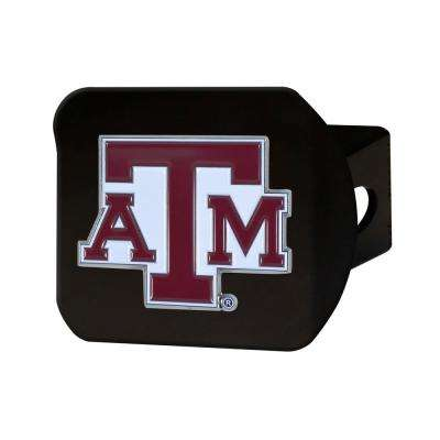 NCAA Texas A&M University Color Emblem on Black Hitch Cover