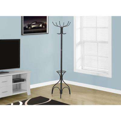 Black 10-Hook Coat Rack