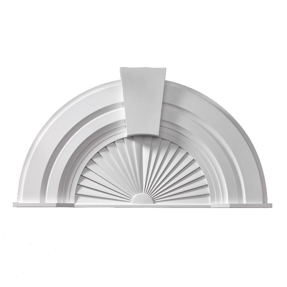 56 in. x 30-1/16 in. x 2-3/4 in. Polyurethane Decorative Arch with Keystone