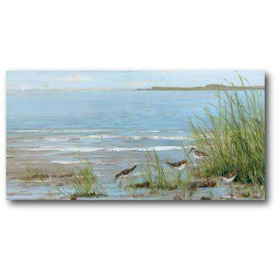 "24 in. x 48 in. ""Clam Sea"" Gallery Wrapped Canvas Printed Wall Art"