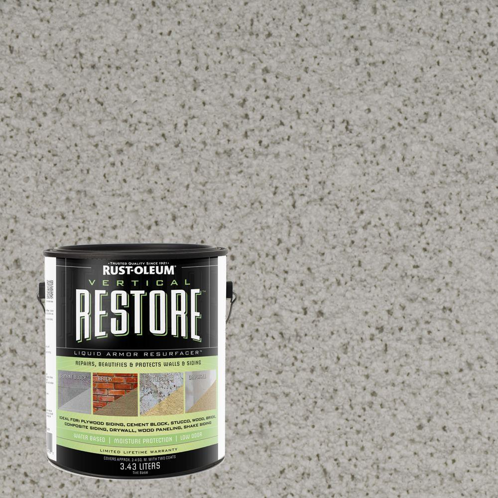 Rust-Oleum Restore 1-gal. Graywash Vertical Liquid Armor Resurfacer for Walls and Siding