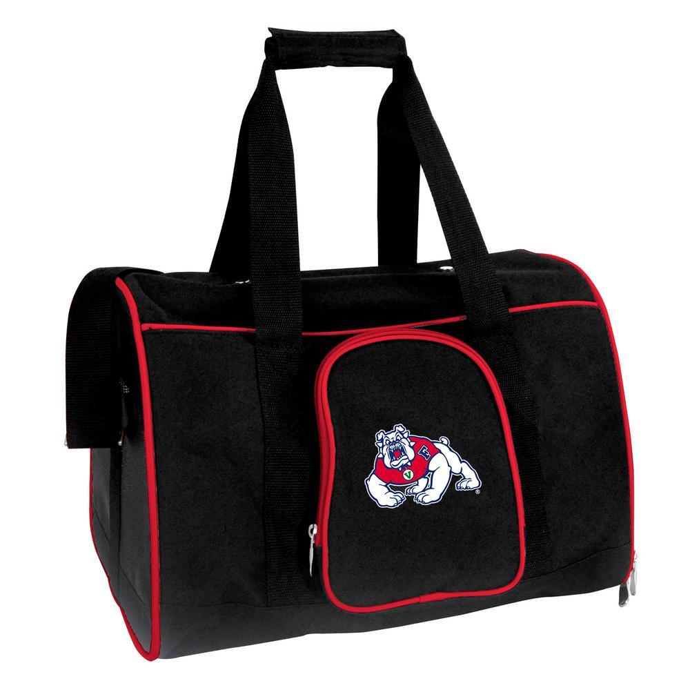 Denco NCAA Fresno State Bulldogs Pet Carrier Premium 16 in. Bag