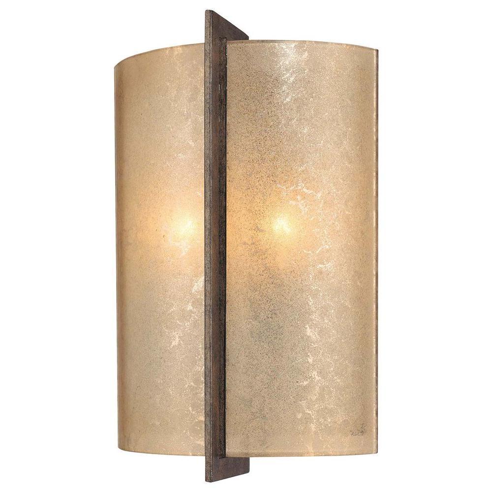Minka Lavery Clarte 2 Light Patina Iron Sconce 6390 573