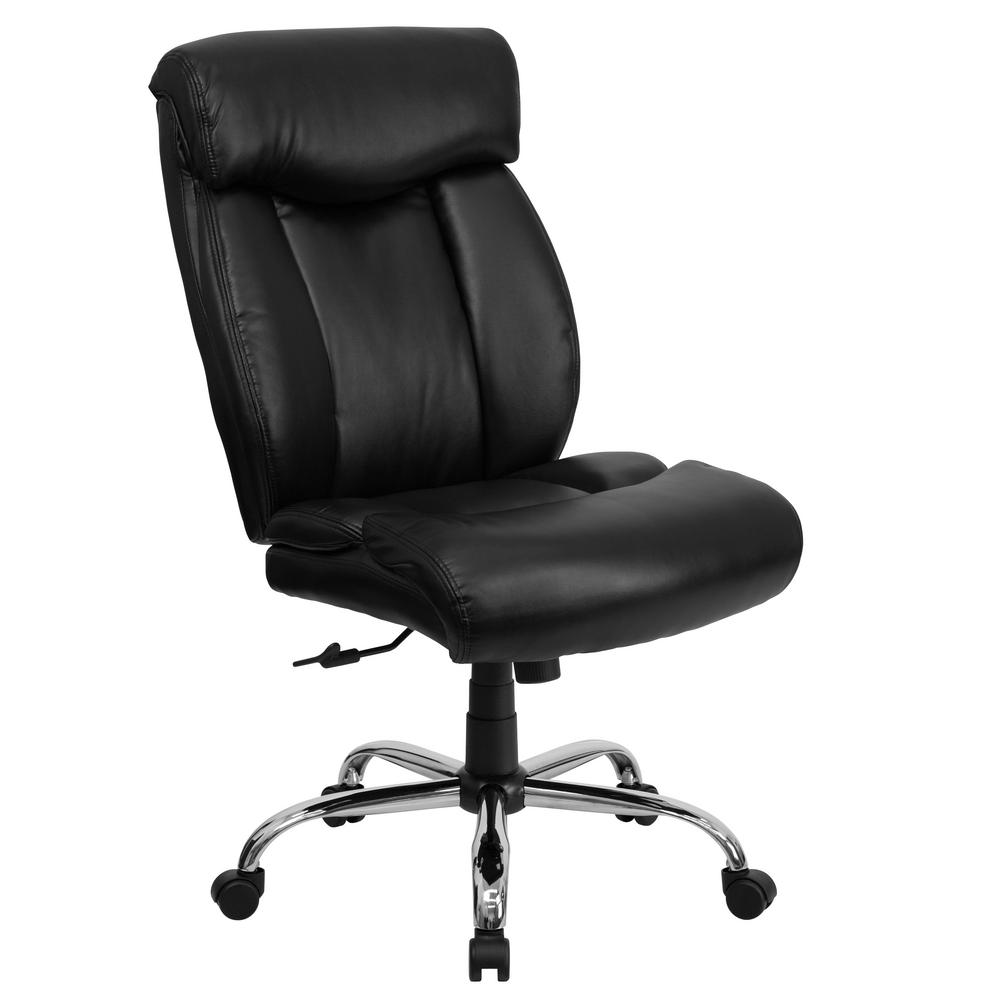 Flash Furniture Black Leather Officedesk Chair Go1235bklea The