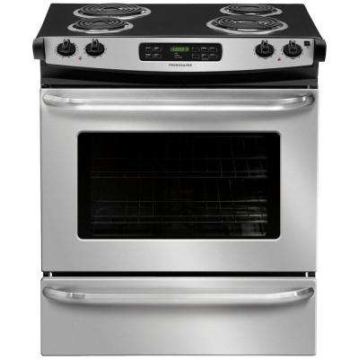 4.6 cu. ft. Slide-In Electric Range with Self-Cleaning in Stainless Steel
