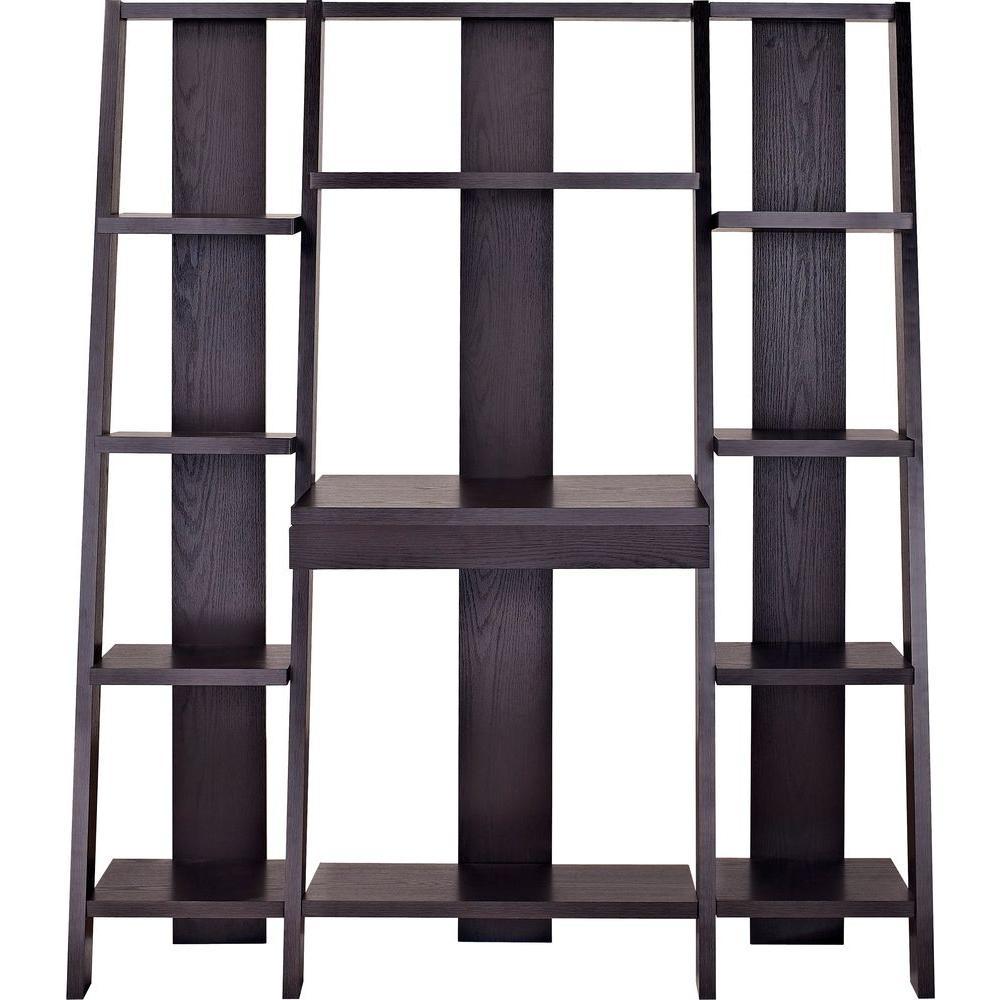 Haddinton Espresso Ladder Bookcase