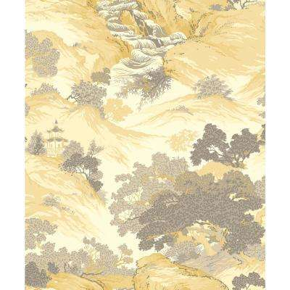 56.4 sq. ft. Ordos Yellow Eastern Toile Wallpaper